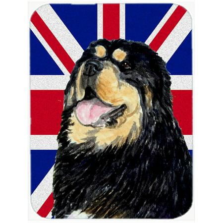 Tibetan Spaniel with English Union Jack British Flag Mouse Pad, Hot Pad or Trivet SS4954MP