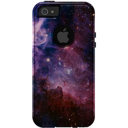 Distinctink  Custom White   Grey Otterbox Commuter Series Case For Apple Iphone 5   5S   Se   Purple Pink Carina Nebula