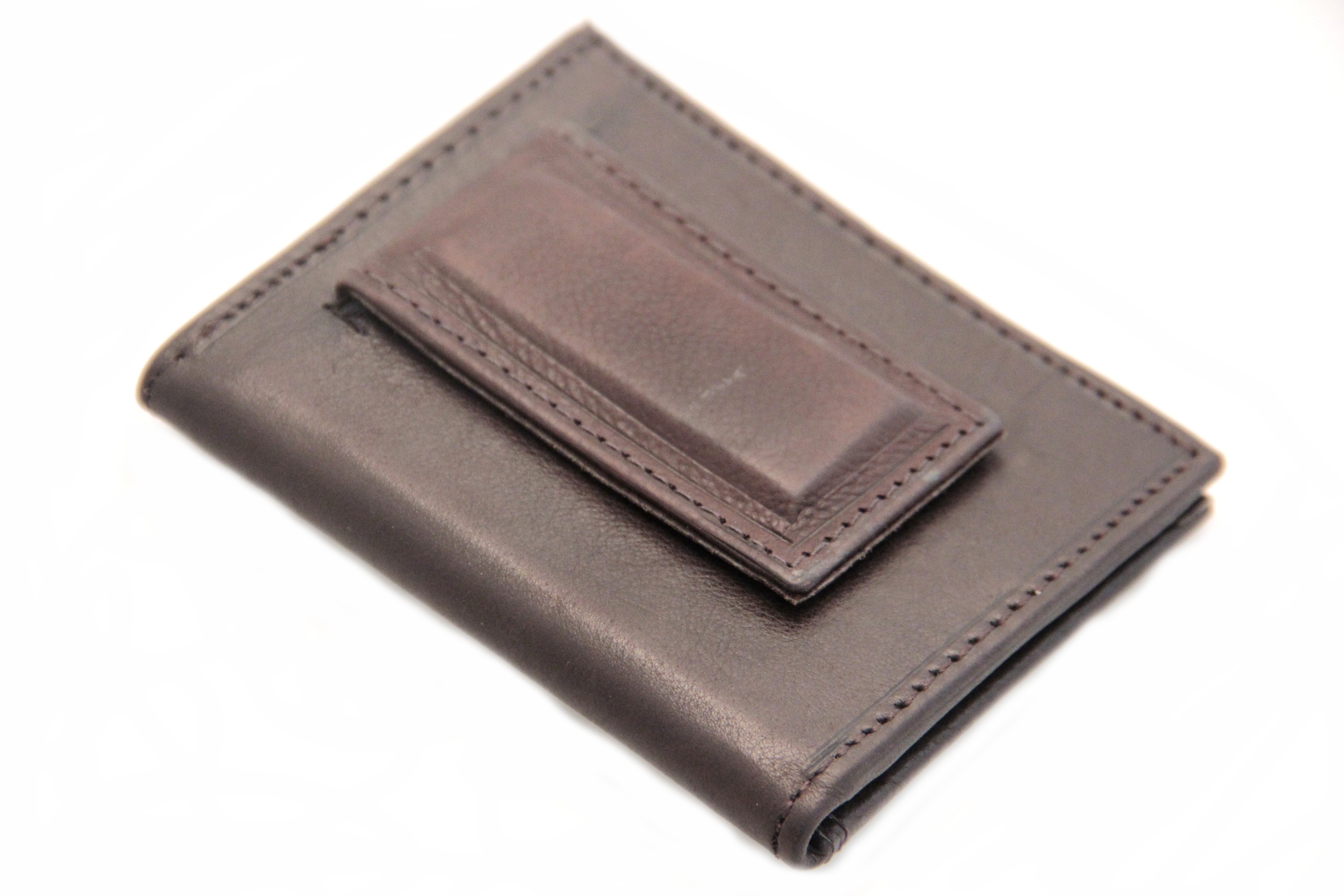 Prettyia Bifold PU Leather Wallet with Money Clip for Men