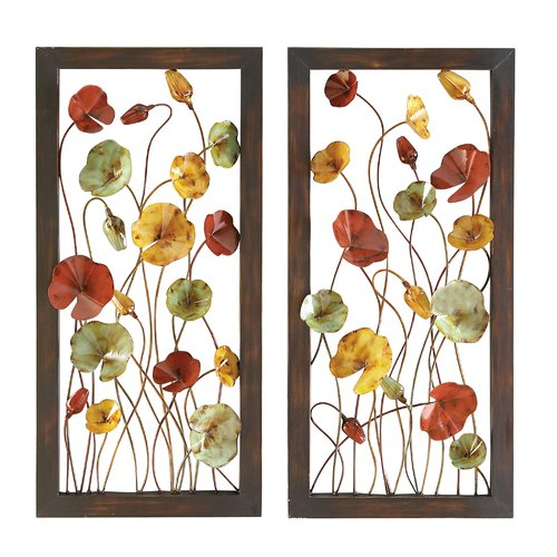 Woodland Imports 2 Piece Metal Plaque Wall Decor Set (Set of 2) by