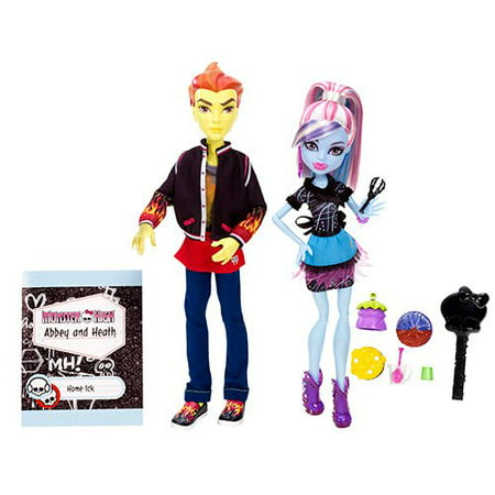 Monster High Home Ick Abbey Bominable & Heath Burns 2-Pack