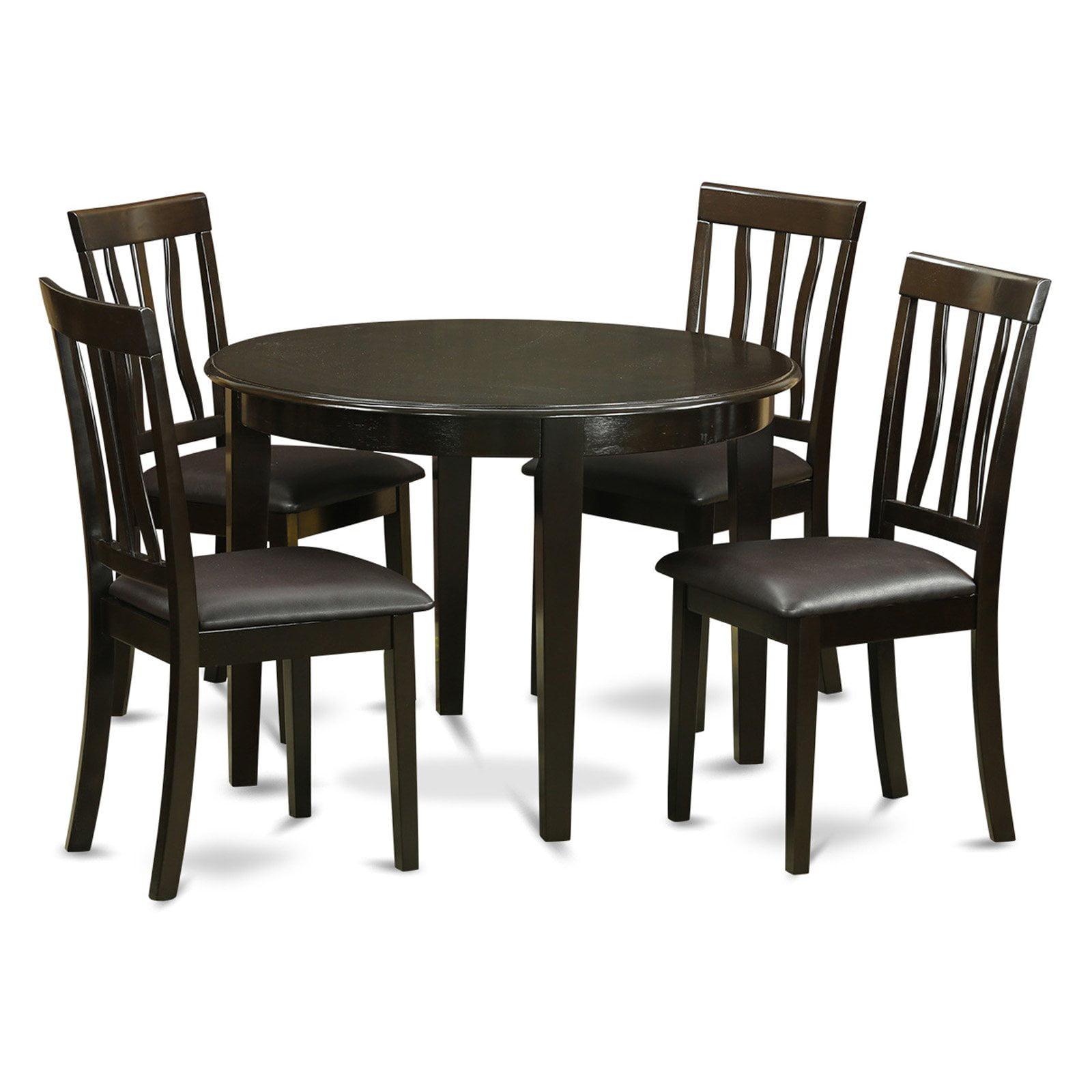 East West Furniture Boston 5 Piece Splat Back Dining Table Set