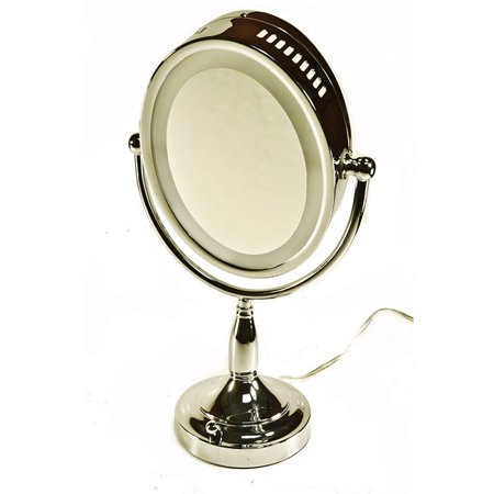 Zadro Illuminated Dual Sided Vanity Mirror With 1x 8x Magnification