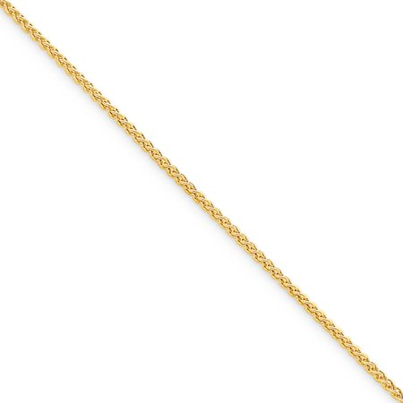 - Gold Plated 925 Sterling Silver 1.50mm Spiga Chain Necklace 20 Inch Pendant Charm Wheat Gifts For Women For Her