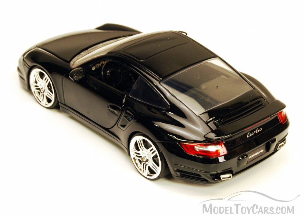 Porsche 911 Turbo Black Jada Toys Bigtime Kustoms 91852 1 24