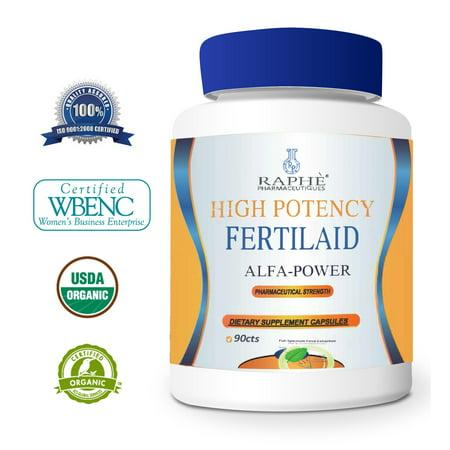Suractivé FertilAid Alfa Puissance Supplément biologique pour femmes 90caps santé de la reproduction
