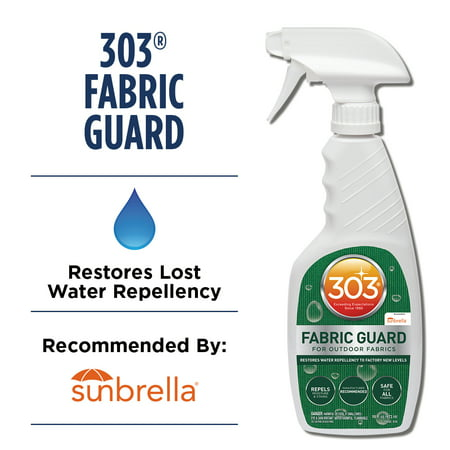 303 Fabric Guard, Water Repellent, Safe for all Patio Furniture Fabrics, 16 fl oz White Synthetic Fiber