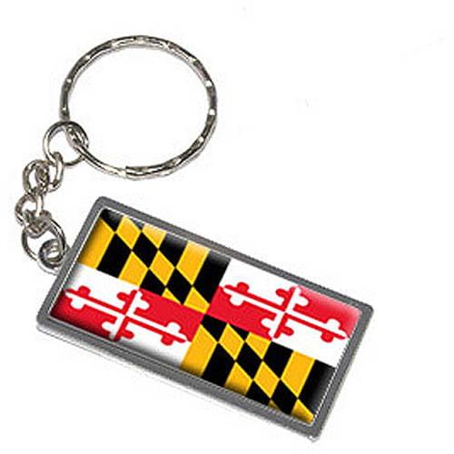 Maryland State Flag Keychain Key Chain Ring