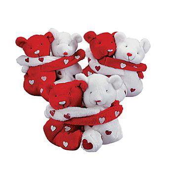 3 Sets of Plush Hugging Valentine Bean Bag BearsVALENTINES Day GiftsDecorLOVE - image 1 de 1
