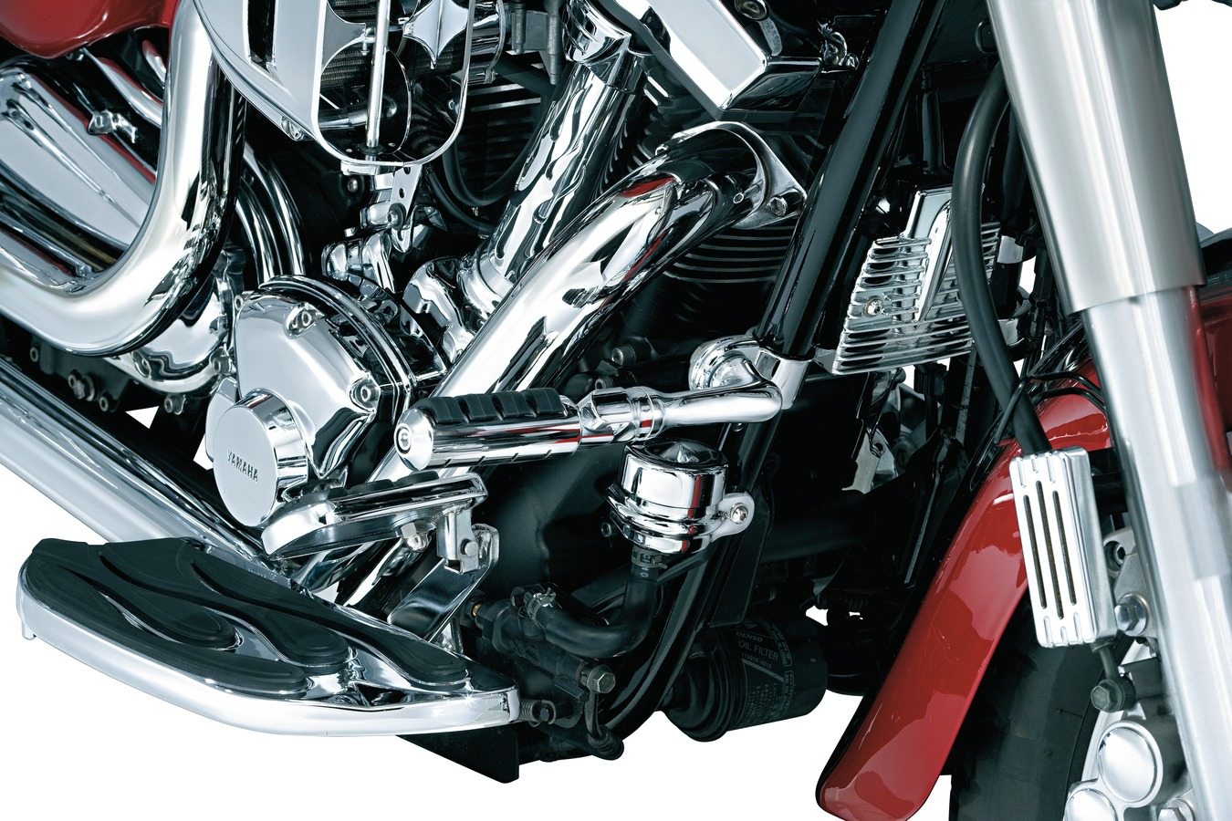 Chrome Large ISO Pegs with Mounts and Magnum Quick Clamps for 1-1//4 Engine Guards or Tubing 1 Pair Kuryakyn 8033 Motorcycle Foot Control Component
