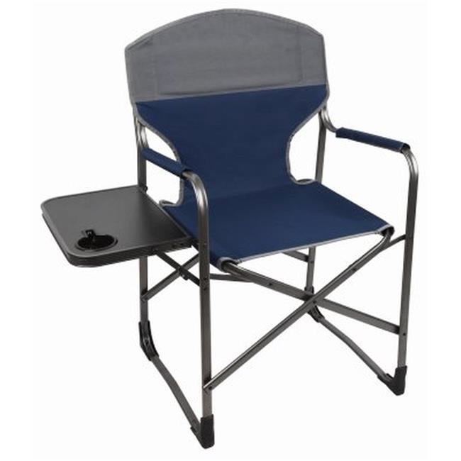 Four Seasons Folding Directors Chair, Blue & Gray