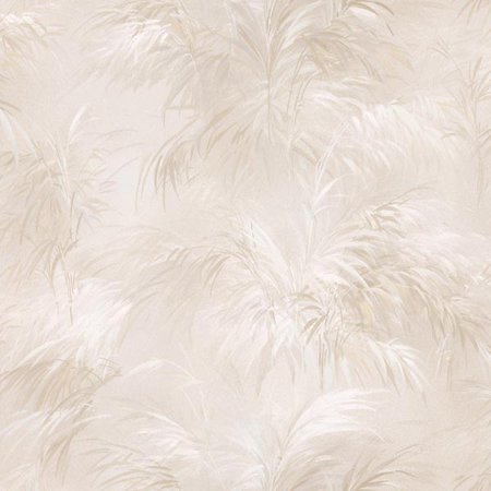 Brewster Kaley Cream Satin Leaves Wallpaper