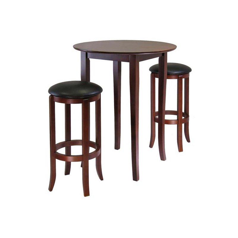 Fiona Round 3-Pc High/Pub Table Set