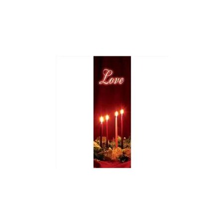 Banner-Christmas-Advent Candles-Love (Indoor)