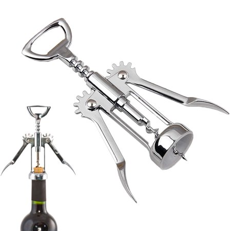 Stainless Steel Wing Corkscrew Wine Opener Red Wine Beer Bottle Cap Opener