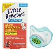 Little Remedies Fever Pain Reliever with Pacifier Thermometer