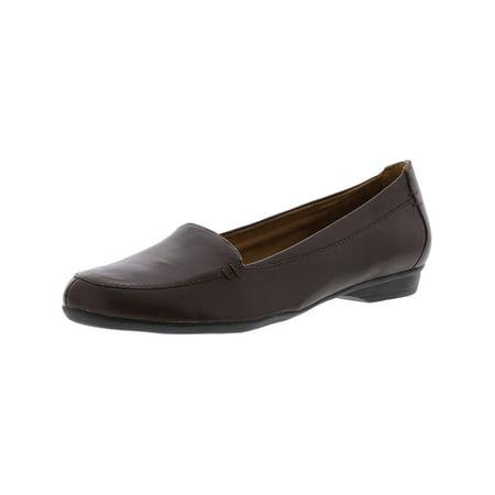 Naturalizer Women's Saban Bridal Brown Leather Flat Shoe -