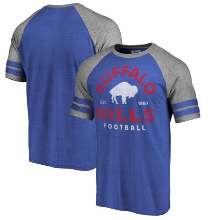 - Buffalo Bills NFL Pro Line by Fanatics Branded Timeless Collection Vintage Arch Tri-Blend Raglan T-Shirt - Royal