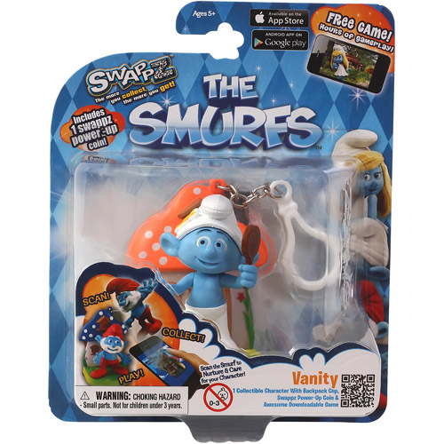 Swappz 628430122224 12222 The Smurf's - Vanity Gaming Figure with Power-Up Coin
