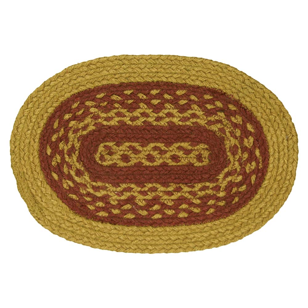 Autumn Burgundy Tan Jute Braided Rugs Oval Rectangle by Home Collections by Raghu
