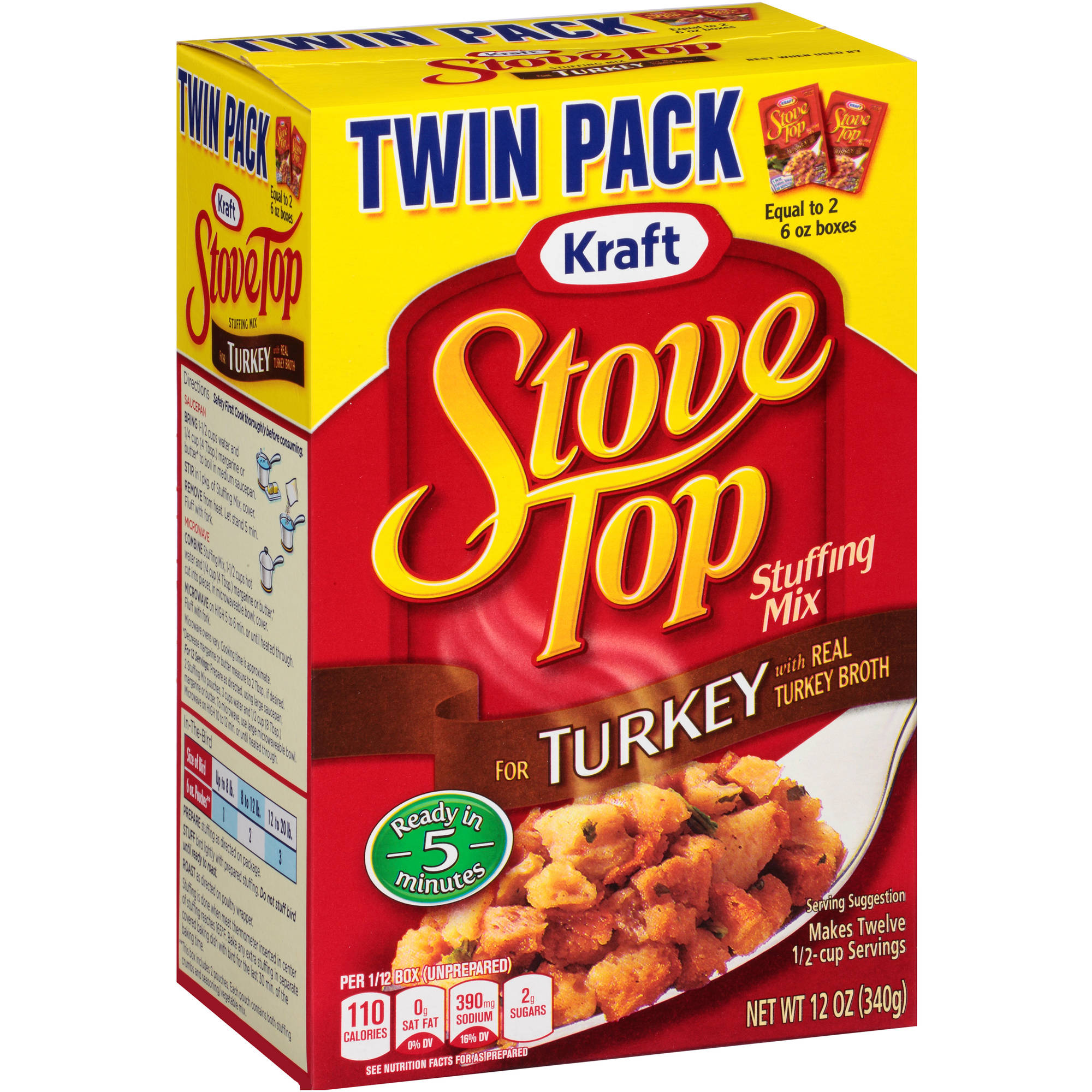 Kraft Stove Top Turkey Stuffing Mix, 12 oz