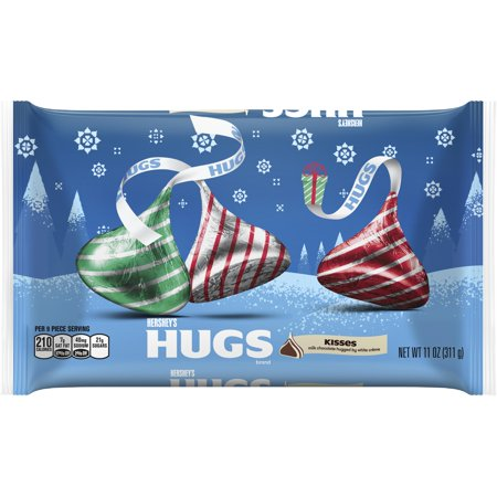 HERSHEY'S Holiday HUGS Candies, 11 oz