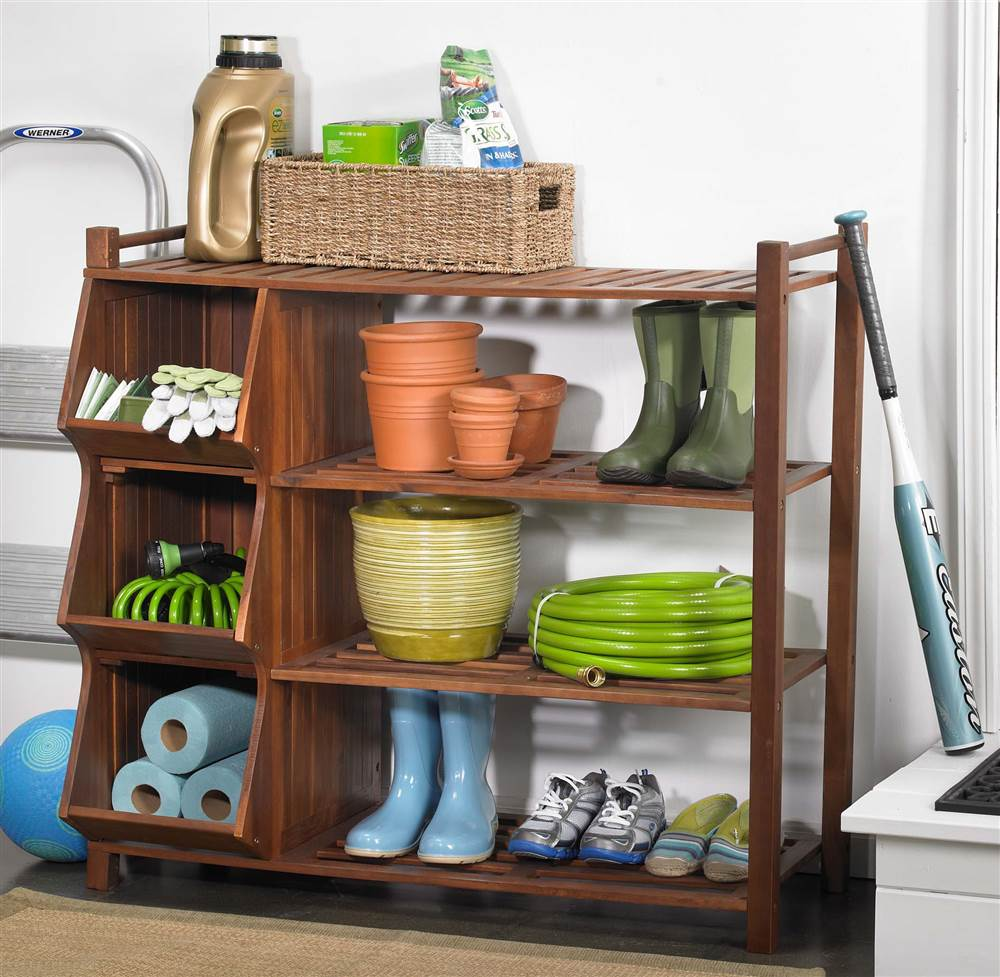 4-Tier Shoe Rack and Cubby