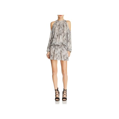 Ramy Brook Womens Lauren Silk Snake Print Party Dress
