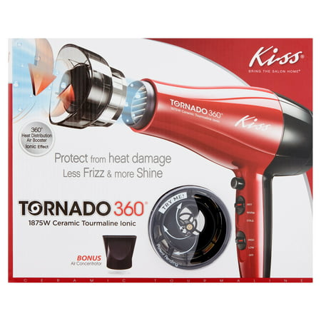 Kiss Tornado 360 1875W Ceramic Tourmaline Ionic Hair Dryer