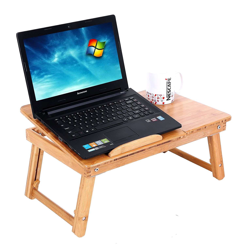 Ktaxon Bamboo Folding Laptop Table Lap Desk Bed Portable
