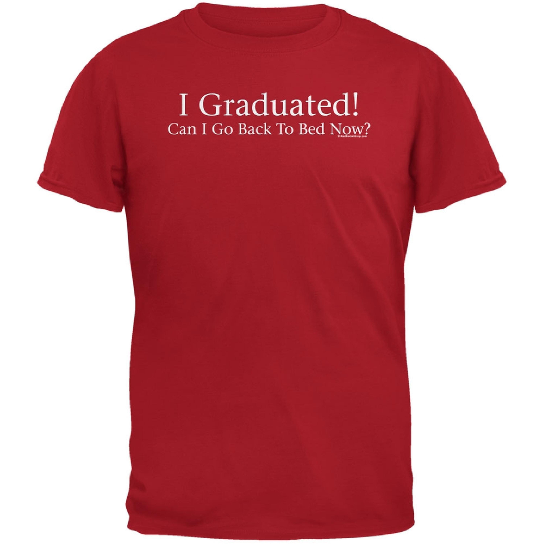 I Graduated! Red Adult T-Shirt