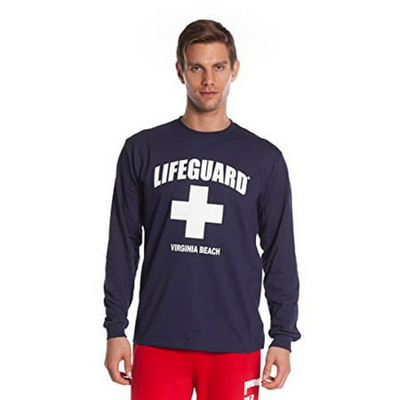 Lifeguard Long-Sleeve Printed Tee Shirt, Red T-Shirt for Men, Guys, Teen &