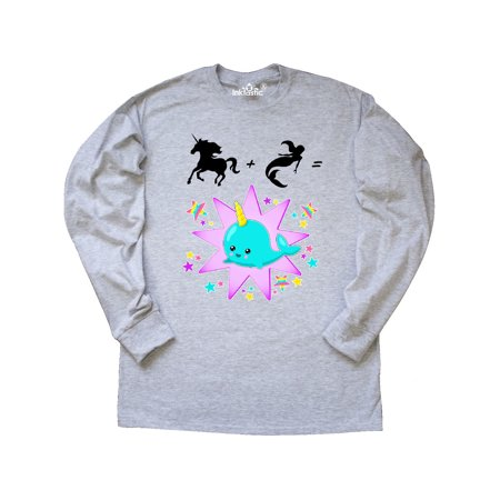 116514513 Inktastic - Unicorn Plus Mermaid Equals Narwhal- cute Long Sleeve T-Shirt -  Walmart.com