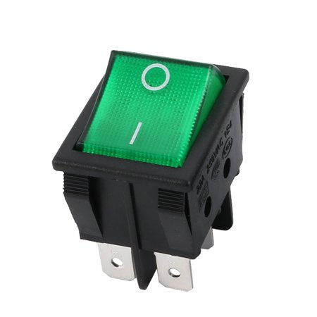 AC 20A/125V 16A/250V DPDT 6P 2 Position LED Light Boat Rocker Switch UL Listed ()