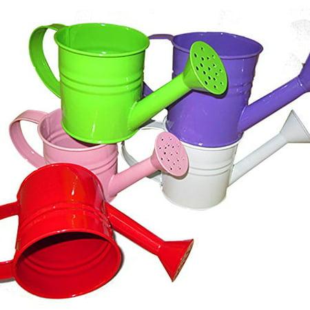 Mini Green Metal Watering Can 1.2 Liter Manual Colorful Watering Can Small (Green Metal Watering Can)