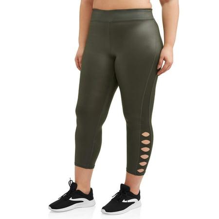Women's Plus Shine Cutout - Plus Size Spandex Leggings