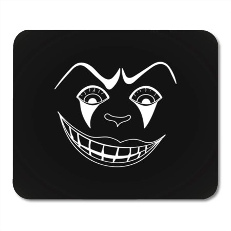 KDAGR Character White with Scary Clown Face on Black Autumn Cartoon Circus Creepy Dead Mousepad Mouse Pad Mouse Mat 9x10 - Scary White Face