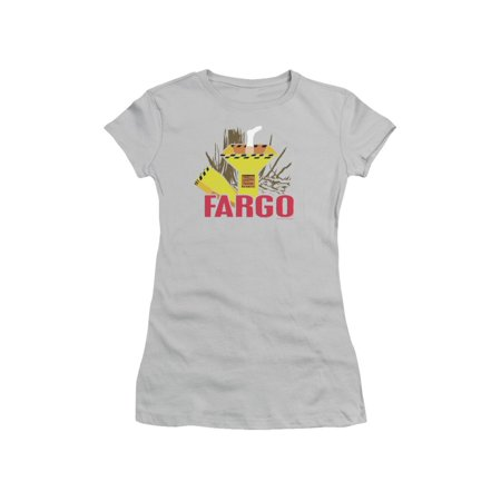 Fargo Classic MGM Film Woodchipper & Foot Silhouette Juniors Sheer T-Shirt Tee