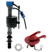 "Fluidmaster 402CARHRP14 Perfomax Toilet Fill Valve and 2"" Flapper Kit"