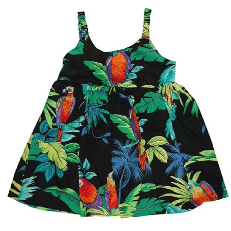 Jungle Dress For Kids (RJC Girls Jungle Parrot Bungee Dress Black)