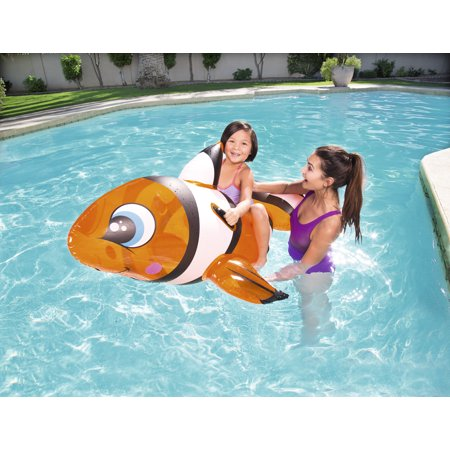 H2OGO! Inflatable Clown Fish Rider Pool - Inflatable Clown Fish