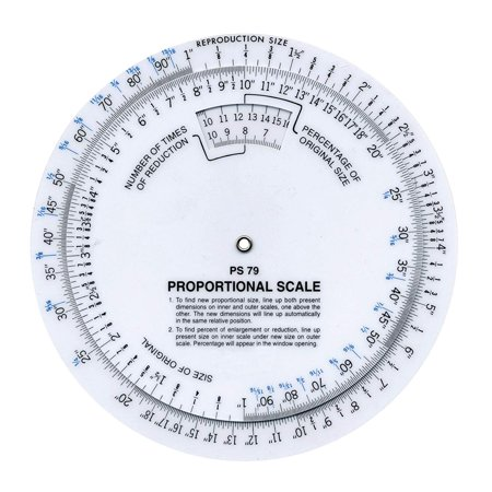 """6"""" Proportional Measuring Scale, White, PS-79 Westcott - Onе Paсk"""