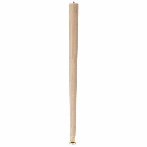 """Waddell Manufacturing 2522 22"""" Round Taper Table Leg"""