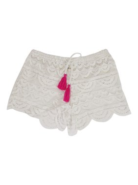 Product Image Miken Juniors Scalloped Crochet Cover-Up Shorts 63ebd0058b