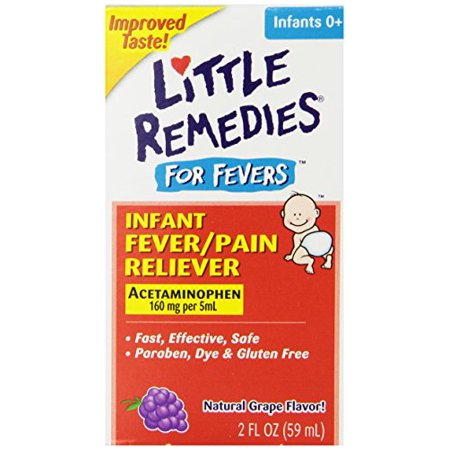 Little Remedies Infant Acetaminophen Fever and Pain Reliever Grape 2 Oz