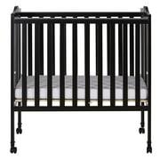 Dream On Me Lightweight 2-in-1 Folding Portable Mini Crib, Black