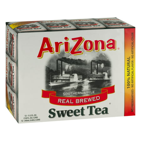(2 Pack) Arizona Iced Tea, Southern Style Real Blend Sweet Tea, 11.5 Fl Oz, 12 Count ()