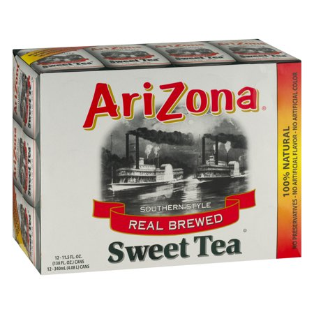 (2 Pack) Arizona Iced Tea, Southern Style Real Blend Sweet Tea, 11.5 Fl Oz, 12 Count