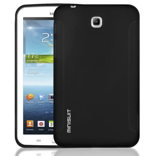 Minisuit Rubber Grip TPU Case for Samsung Galaxy Tab 3 7.0 P3200/3210 (Professional Black)