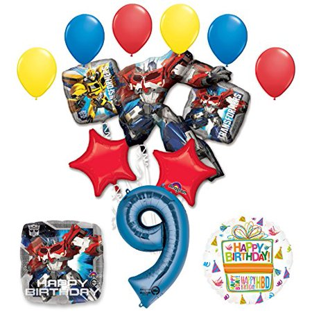 The Ultimate Transformers 9th Birthday Party Supplies and Balloon Decorations (Transformer Pinata)